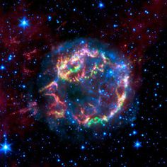 Cassiopeia A: the remnant of a star that died in a supernova explosion