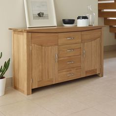 Tokyo Large Sideboard in Natural Solid Oak Dining Room Lighting, Oak Furniture, Sideboards Living Room, Furniture Removal, Oak Sideboard, Furniture, Large Sideboard, Oak Furniture Land, Dining Room Light Fixtures