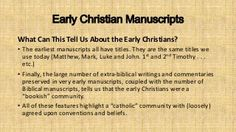 Early Christian Manuscripts