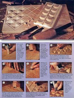Chip Carving Furniture - Wood Carving Patterns and Techniques| WoodArchivist.com