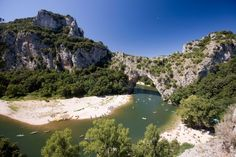 Canoeing on the Ardèche.