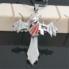Bleach Necklace - Hollow Cross Stainless Steel Pendant