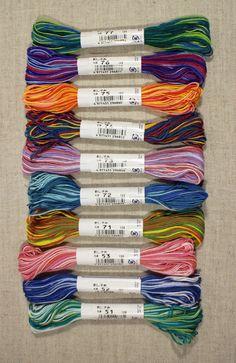 Panaché de fil Sashiko écheveau 40 m votre choix de