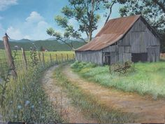 Beautiful Classic And Rustic Old Barns Inspirations No 14 (Beautiful Classic And Rustic Old Barns Inspirations No design ideas and photos - Love Of Art. - Beautiful Classic And Rustic Old Barns Inspirations No 44 - Barn Pictures, Pictures To Paint, Farm Paintings, Landscape Paintings, Country Paintings, Acrylic Paintings, Country Barns, Country Roads, Country Living