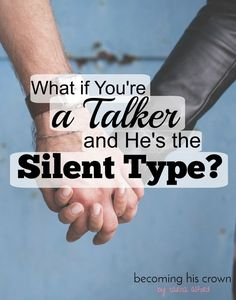 Communication is a big part of marriage, and it can be difficult if you're a talker and he's more of the silent type! Have you ever found yourself frustrated with him not being as expressive with his words as you would like? Does he sometimes get irritated at how much you want to talk? It can definitely be tough, but I've come up with a few ways to make things go a little smoother if you're a chatterbox and he prefers not to speak so much. Click through to read!