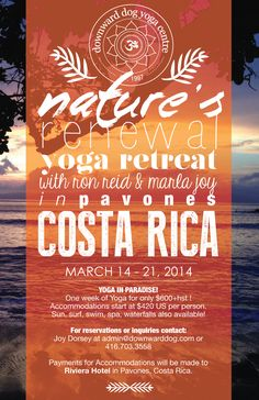 Image result for yoga retreats poster