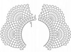 crochet edging crochet collar pattern free - Dress up your sweaters, dresses, shirts and tops with beautiful crocheted collars. These free patterns will give you many ideas for how to approach it. Crochet Collar Pattern, Col Crochet, Crochet Lace Collar, Quick Crochet, Crochet Borders, Thread Crochet, Crochet Motif, Crochet Designs, Crochet Stitches