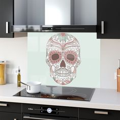 Kitchen Splashback Tempered Heat Resistant Glass Scull People 25077052 90x65cm #Prizma Heat Resistant Glass, Splashback, Kitchen, Prints, Diy, People, Home Decor, Cooking, Decoration Home