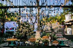 Decoração do casamento: mesa de doces e luzes de gambiarra - Foto 18 Elementos