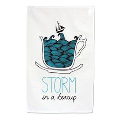 Storm In A Teacup Tea Towel, 10,50€, now featured on Fab.