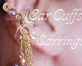 Ear Cuffs, Wire Jewelry Beginner Tutorial, Earrings for Pierced or Non-Peirced Ears, Instant Download PDF File