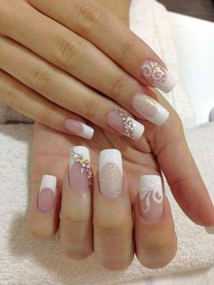 50 Top Best Wedding Nail Art Designs To Get Inspired Clear Nail Designs, Nail Art Designs, Eyelash Kit, Under Eye Concealer, Magnetic Eyelashes, Christmas Makeup, Wedding Nails, Eye Color, Cute Nails