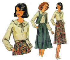 Ruffled Collar Blouse Pattern Ladies Waistcoat & by HoneymoonBus, $7.99