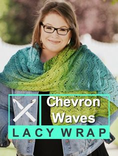 FREE Crochet Wrap Pattern-Chevron Waves Lacy Wrap