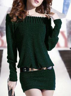 Special Slim temperament  Dress (Blue,Green) Casual Dresses from fashionmia.com