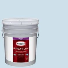 Glidden Premium Soft Cloud Blue Eggshell Interior Paint with Primer is a great way of adding pattern and color to your space.