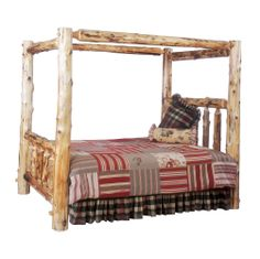 10030 Traditional Canopy Log Bed.jpg (1001×1000) www.swtradingcompany.com #canopybed