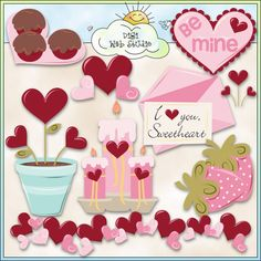 My Valentine 1 - Non-Exclusive Trina Clark Clip Art : Digi Web Studio, Clip Art, Printable Crafts & Digital Scrapbooking!
