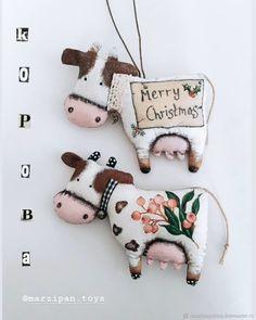 Cowboy Christmas, Christmas Baby, Christmas Cards, Merry Christmas, Christmas Ornaments, Cute Stuffed Animals, Cute Toys, Felt Animals, Handmade Design