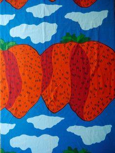 70's Marimekko Strawberry Fabric