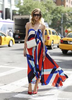 New York Fashion Week Street Style Chiara Ferragni Wears MSGM www.leeoliveira.com