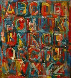 Jasper Johns colorful Alphabet