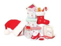 My Little One is a huge Maplelea fan and you can imagine her excitement when she received the Christmas Traditions set. Get your Maplelea ready for Christmas. Christmas Gift Box, Christmas Stockings, Christmas Cards, Christmas Ornaments, Canadian Christmas, Elf Slippers, Holiday List, 18 Inch Doll, Gingerbread Man