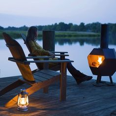 Sundown at the lake.