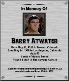 Barry Atwater