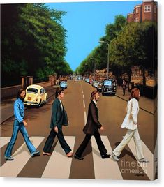 A guide to giving art as a gift: the-beatles-abbey-road-paul-meijering-canvas-print