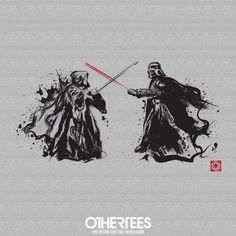 """The Last Duel"" by Dr.Monekers T-shirts, Tank Tops, V-necks, Sweatshirts and Hoodies are on sale until February 5th at www.OtherTees.com #starwars #darthvader #othertees #vader #tshirt #geeky"