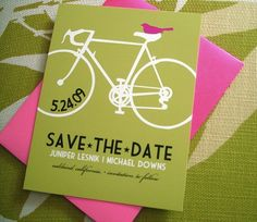 I like this colors! A Bicycle Theme for Your Green Wedding.
