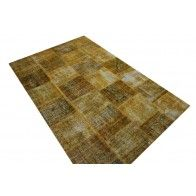 yellow patchwork rug