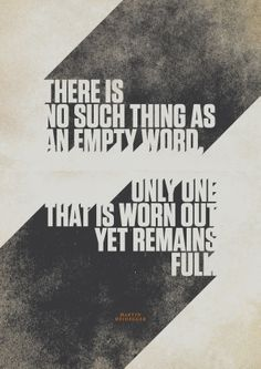 Typographically molded quotes - March #04 | Martin Heidegger