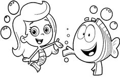 Bubble Guppies Coloring Pages For Kids. The Bubble Guppies are on this page! Let us dance, sing, and have fun while learning with Bubble Guppies! Nick Jr Coloring Pages, Shark Coloring Pages, Super Coloring Pages, Paw Patrol Coloring Pages, Farm Animal Coloring Pages, Valentine Coloring Pages, Detailed Coloring Pages, Halloween Coloring Pages, Cartoon Coloring Pages