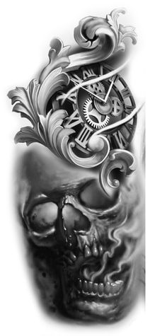 - You are in the right place about (notitle) Tattoo Design And Style Galleries On The Net – Are The - Evil Skull Tattoo, Skull Rose Tattoos, Skull Sleeve Tattoos, Tattoo Sleeve Designs, Lion Tattoo Sleeves, Temporary Tattoo Sleeves, Clock Tattoo Design, Skull Tattoo Design, Cover Up Tattoos