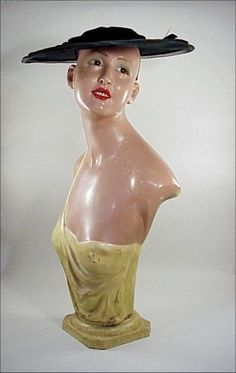 French ART DECO 1930 Glass Eye Mannequin