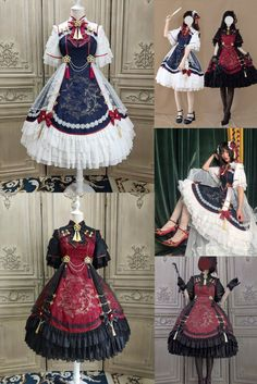 Pretty Outfits, Pretty Dresses, Beautiful Outfits, Cool Outfits, Sparkly Dresses, Gothic Lolita, Victorian Gothic, Gothic Girls, Lolita Style