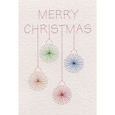 Free Merry Christmas Baubles | Free e-patterns |  PinBroidery Stitching Cards | ePatterns