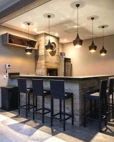 Fascinating home bar furniture winnipeg to refresh your home Kitchen Cabinet Design, Modern Kitchen Design, Kitchen Interior, Bar Furniture For Sale, Home Bar Furniture, Kitchen Bar Counter, Interior Decorating, House Design, Decoration