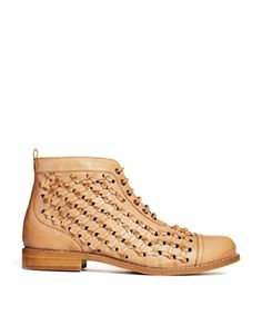 Image 1 ofASOS ABSOLUTELY FINE Leather Ankle Boots