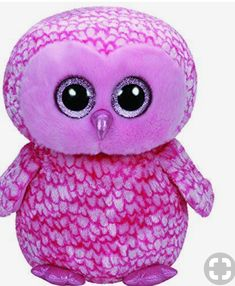 Ty Beanie Boos Pinky the Pink Barn Owl Large Plush 62062478972a