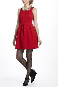Nipped Brocade Dress, anthropologie
