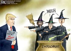 The Democrats can't find anything on President Trump no matter how hard they try. the dossier, plan B; Russia collusion, plan C; obstruction, plan D; impeach him anyway. Political Cartoon by A. Democrat Humor, Political Cartoons, Funny Cartoons, Trump Cartoons, Political Satire, Funny Memes, Jokes, Real Witches, Chistes