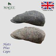1480b35f7e3b3 Hats Plus Caps · Donegal Grey   Brown Tweed Newsboy Peaky Blinders Flat Cap  Bakerboy Gatsby Hat Peaky Blinders Flat