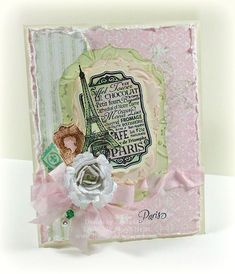 Paris themed card designed by Linda Duke. For all the details visit her blog post.