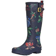 Welly Print Damen Stiefel Blau