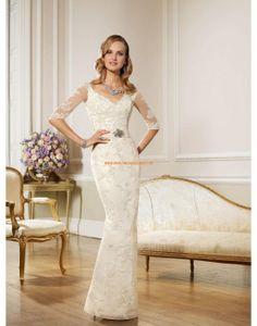 RONALD JOYCE Modische Schicke Brautkleider von Meerjungfraustil aus Organza mit Schleppe