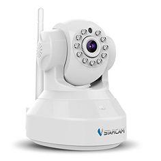 Vstarcam HD 1280*720 �berwachungskamera P2P Wireless IP Kamera, 3DB wifi Antenne, WiFi Wlan Netzwerk �berwachung, Pan/Tilt, Schwenkbare IR Monitor, E-Mail Benachrichtigung, Die bis zu 64GB,Wei�