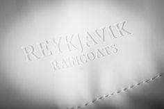 Reykjavik Raincoats White Stamped Logo
